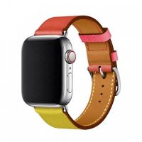 COTEetCI Calf Leather Band for Apple Watch 38 / 40mm (Short) Amber.Orange with Rose Azalee | Příslušenství k mobilním telefonům Mělník | iFruits